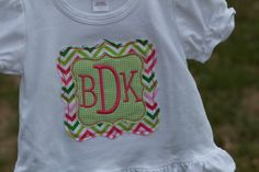Chevron Patch Monogram Shirt by preppyponydesigns on Etsy, $24.00