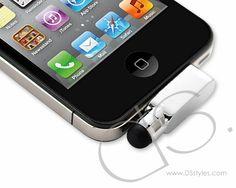iPhone Dock Plug Stylus - Silver
