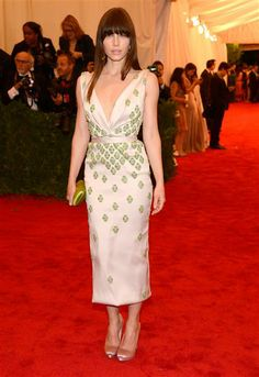 """Jessica Biel attends the Costume Institute's gala for the exhibit """"Schiaparelli and Prada: Impossible Conversations"""" at New York's Metropolitan Museum of Art on May 7, 2012."""