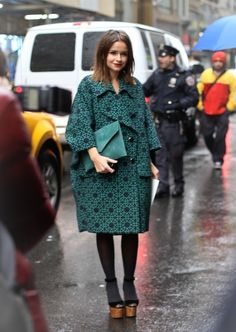 love her green coat.