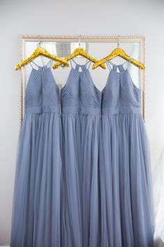classic elegant dusty blue bridesmaid dress, perfect for fall outdoor wedding#wedding #weddinginspiration #bridesmaids #bridesmaiddresses #bridalparty #maidofhonor #weddingideas #weddingcolors #tulleandchantilly Dusty Blue Bridesmaid Dresses, Bridesmaids, Long Shorts, Maid Of Honor, Weddingideas, Summer Wedding, Wedding Colors, Tulle, Chiffon