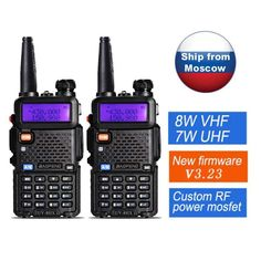 2 pcs Original Baofeng Walkie Talkie UV-5R Ham Portable 8W Radio