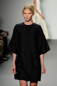 Lara Stone Lara Stone walks the runway at the Calvin Klein Spring 2011 fashion show during Mercedes-Benz Fashion Week in New York City.
