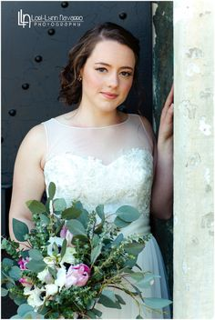 Bride on her wedding day at old Fort MacArthur in San Pedro, CA