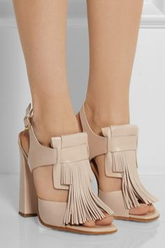 OD'S Fringed leather sandals $925