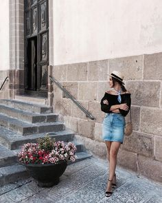 "Sardinia - Italy - Alghero ""Girl born to travel. 👒 Shop my black sandals here, link in bio! Sardinia Italy, My Black, Black Sandals, Leather Skirt, Mini Skirts, Travel, Link, Shop, Fashion"