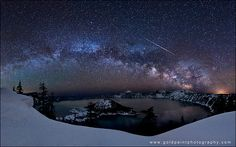 Milky Way Galaxy as seen from Crater Lake, Ore. (Photo: Brad Goldpaint)