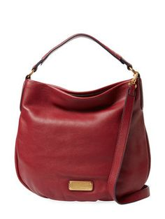 New Q Hiller Leather Hobo from Marc by Marc Jacobs: Handbags
