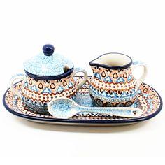 polish-pottery-creamer-sugar-#1359