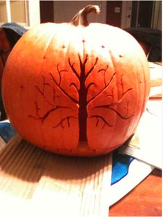 Tree of Gondor pumpkin @shelby c Hunt  should have done this for my pumpkin!