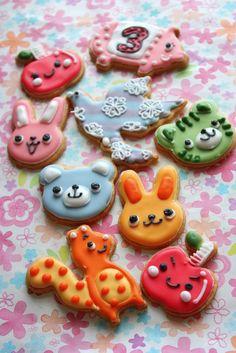 動物のアイシングクッキーがいっぱいのお誕生日ケーキ - 創太んママの、おいしいもの「ハイ、どうぞ♪」
