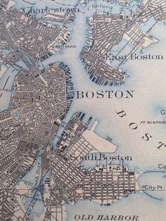 Boston Map 1903 #map #boston