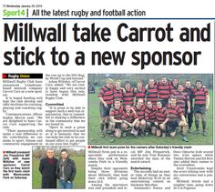 Back in the news! Carrot Cars, Millwall, Rugby Club, Action, Baseball Cards, News, Sports, Hs Sports, Group Action