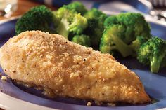 Four ingredients. Five minutes of prep. Six crisp, juicy Parmesan chicken breasts. This better-for-you crowd-pleaser adds up to a winning dinnertime. Onion Chicken, Garlic Chicken, Baked Chicken, Chicken Recipes, Crusted Chicken, Healthy Cooking, Cooking Recipes, Eat Healthy, Cooking Tips