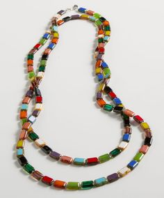 Rainbow Glass Necklace, Necklaces, Jewelry, Home - The Museum Shop of The Art Institute of Chicago