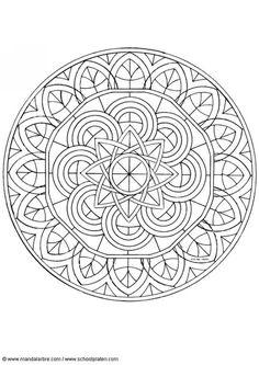 Kleurplaat mandala-1602p