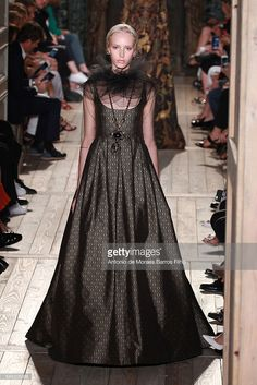 A model walks the runway during the Valentino Haute Couture Fall/Winter 2016-2017 show as part of Paris Fashion Week on July 6, 2016 in Paris, France.