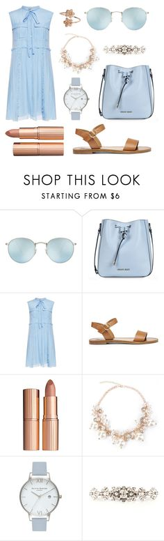 """""""Theme: Blue Beach"""" by anna-james-21 ❤ liked on Polyvore featuring Ray-Ban, Armani Jeans, N°21, Steve Madden, Charlotte Tilbury, Olivia Burton and Dolce&Gabbana"""