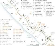 Santa Teresa Costa Rica - Map with Hotels in Santa Teresa