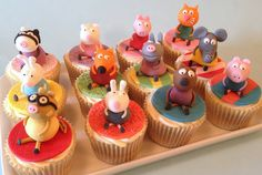 Peppa Pig and her friends Cupcakes   Flickr - Photo Sharing!