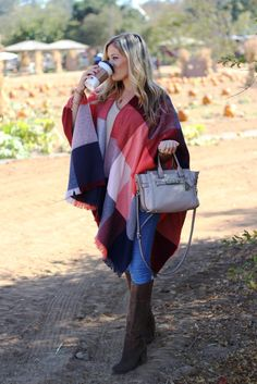 Swap Your Jacket for a Plaid Poncho