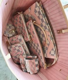 2017 Louis Vuitton Rose Ballerine Damier Azur Tahitienne Bags and Small Leather Goods. Source by adelehinds bag collection