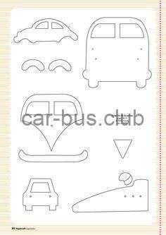 Free card making templates from Papercraft Inspirations 123 carros kombi e fusca Felt Patterns, Applique Patterns, Applique Designs, Sewing Patterns, Applique Templates Free, Owl Templates, Card Making Templates, Felt Ornaments, Patchwork Quilting