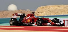 Alonso testing in Bahrain.