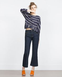 ZARA - COLLECTION SS16 - BLOUSE WITH FRILLED HEM