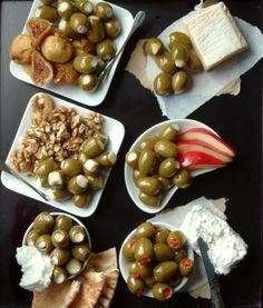 The opportunities to pair olives with wine and other foods are endless. Start with the classic & creative pairings here -- like Blue Cheese Stuffed Olives with Pears & Sherry or Oil-Cured Olives with Ricotta Salata and Cabernet Sauvignon.