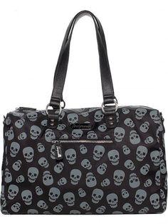 "Women's ""Lust For Skulls"" Travel Bag by Sourpuss Clothing (Black/Grey) #inked #inkedshop #inkedmagazine #travelbag #skulls"