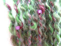 Beaded Handspun Art Yarn 36 yards 350 ounces 2 by ladypainswick, $22.00