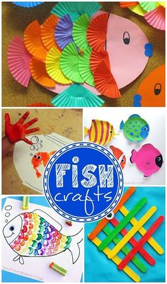 Creative Little Fish Crafts for Kids (Fun for ocean themed art projects)   CraftyMorning.com