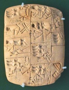 Early Sumerian writing tablet recording the allocation of beer, probably from southern Iraq, Late Prehistoric period, 3100-3000 BC