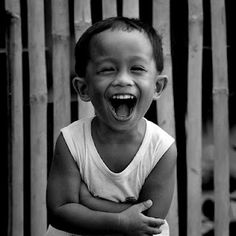 There is nothing in the world like the laughter of a child.