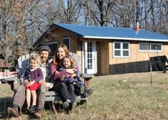 Wonder what living in a tiny house with kids is really like? We live in a 350 square foot home with two children - here's how we make tiny house life work. Building A Tiny House, Tiny House Cabin, Tiny House Plans, House 2, Small House Living, Off Grid House, Into The West, New Farm, Little Houses