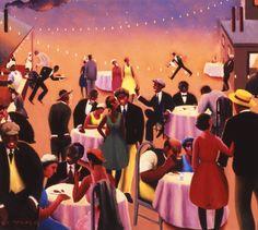 Archibald J. Motley Jr., Barbecue, c. 1934. Oil on canvas, 39 x 44 inches (99.1 x 111.76 cm).http://nasher.duke.edu/motley/