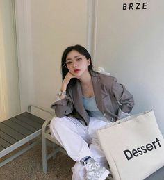 Edgy Outfits, Korean Outfits, Fashion Outfits, Korean Girl Photo, Cute Korean Girl, Poses, Chica Cool, Beautiful Girl Makeup, Frock Fashion