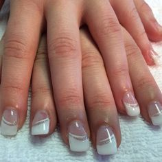 #french #white #silver #whisps #promnails #classy
