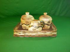Ceramica Sugar Bowl, Bowl Set, Tea Time, Jar, Pasta, Decor, Ideas, Handmade Ceramic, Ceramic Art