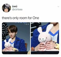 "JK:""LISTEN HERE YOU LITTLE FCK THERE IS ROOM FOR ONLY ONE CUTE BUNNY HERE AND THAT'S ME SO DIE BITCH YOU WON'T STEAL MY PLACE"" yeah something like that."