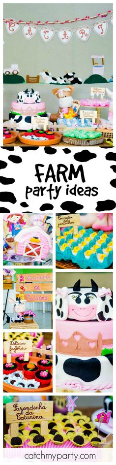 Take a look at this fantastic Farm 1st birthday party. The farm themed cookies are so cute!! See more party ideas and share yours at CatchMyParty.com