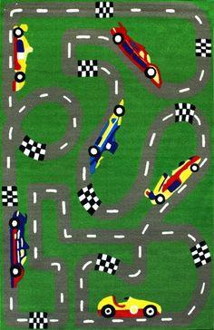 Kinderloom Raceway Rug 5u0027 ...