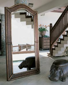 Ernest Hemingway MIRROR by Thomasville | Elegant Standing Floor Mirrors from Thomasville Wall Decor