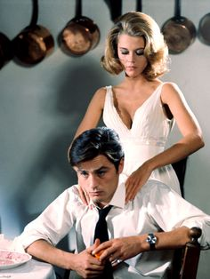 Jane Fonda, Girl got style!    Jane Fonda and Alain Delon in Les Félins, 1964