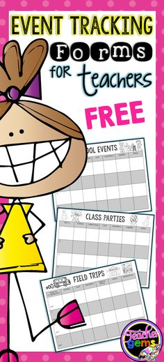 Keep track of all your school events, class parties and field trips with these free forms from Teacher Gems!