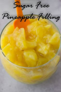 Perfect for cakes and pies all natural,healthy creamy low fat sugar free pineapple filling! (I'd check the amount of stevia, though. Pineapple Filling For Cake, Pineapple Desserts, Pineapple Pie, Pineapple Recipes, Sugar Free Desserts, Sugar Free Recipes, Just Desserts, Light Desserts, Cake Filling Recipes