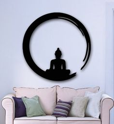 DIY poster vinilos paredes Hee Grand Removable Vinyl Wall Sticker Mural Decal Art - Flowers and Vine adesivo de parede Buddha Wall Art, Buddha Decor, Shabby Chic Crafts, Vintage Shabby Chic, Vintage Art, Decoration, Art Decor, Decor Ideas, Shabby Chic Bathroom Accessories