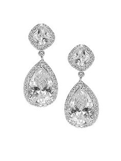 CZ Petite Drop Earrings http://www.dessy.com/accessories/cz-petite-drop-earrings/ CZ great idea; i'd need these in clip-ons