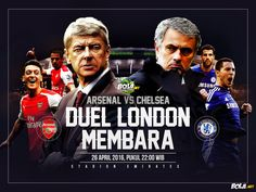Bola.net: Download Wallpaper - Arsenal vs Chelsea
